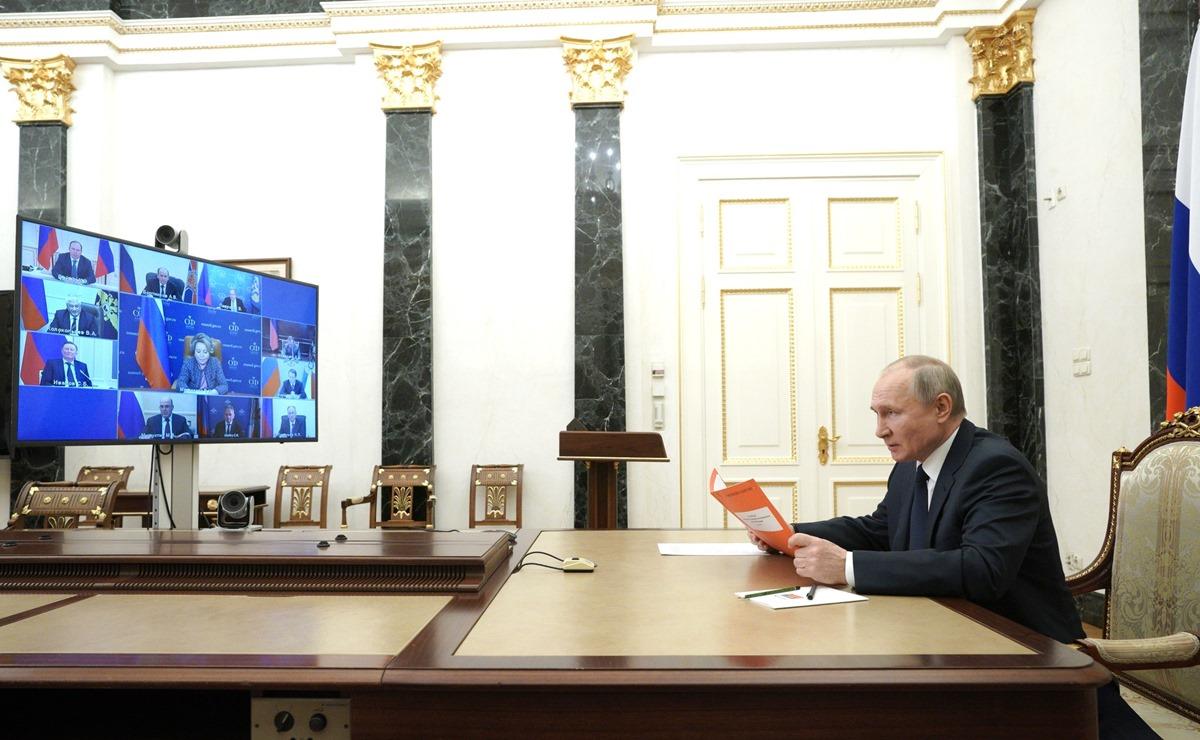 Путин рассказал о вакцинации от коронавируса. Фото: пресс-служба Кремля