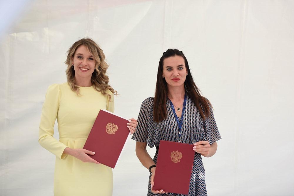 Наталья Ищенко и Елена Исинбаева